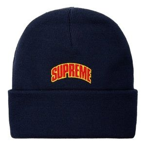 New Supreme Crown Logo Beanie / Hat NWT Navy